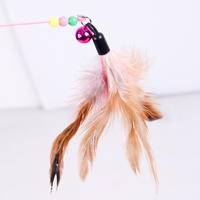 고양이 깃털 방울 낚시대 장난감