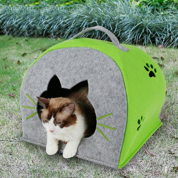 강아지 집 하우스 용품 펠트 이글루 고양이 숨숨집