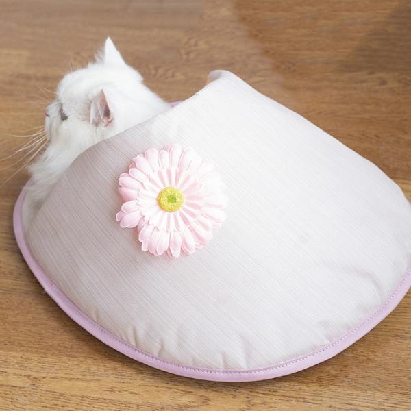 고양이 집 숨숨 용품 방석 쿠션 플라워 하우스