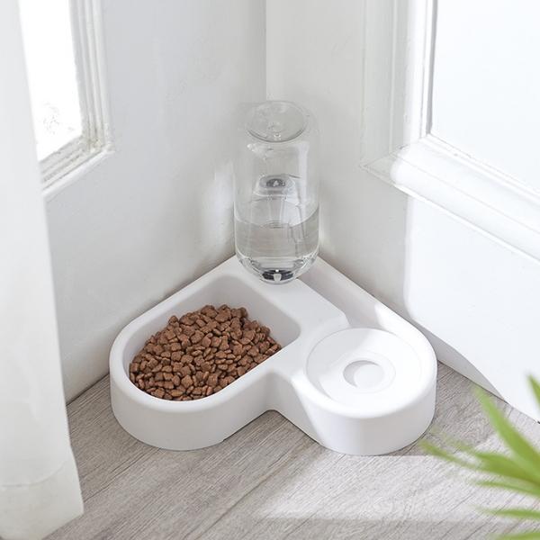 강아지 식기 고양이 식탁 밥 물 그릇 화이트 펫 보울