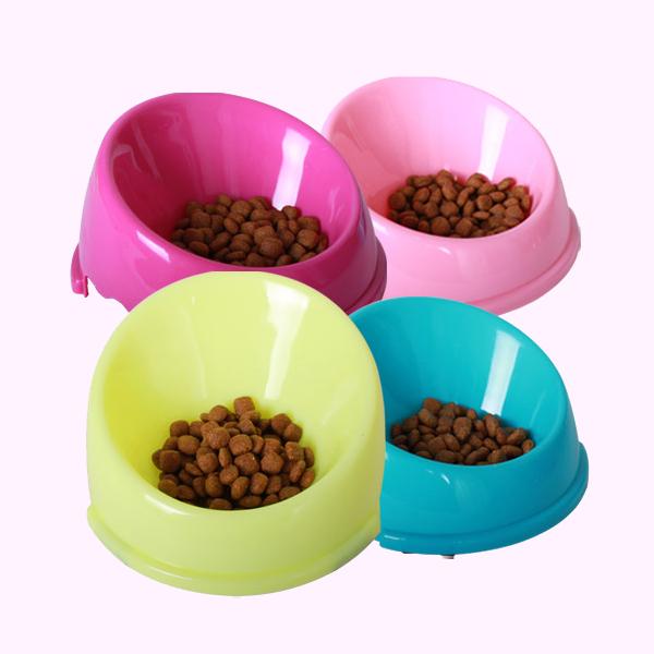 강아지 고양이 넘침방지식기 L (색상랜덤)