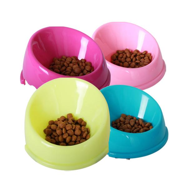 강아지 고양이 넘침방지식기 S (색상랜덤)
