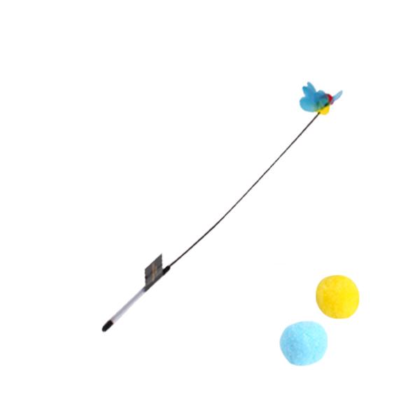 파다닥 캣플라잉 낚시대 숏 옐로우비 + 스노우볼 2개