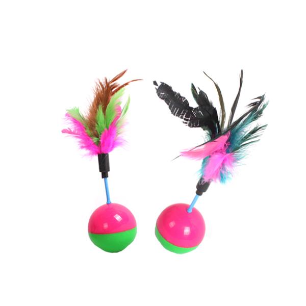 펑키깃털 오뚜기 장난감