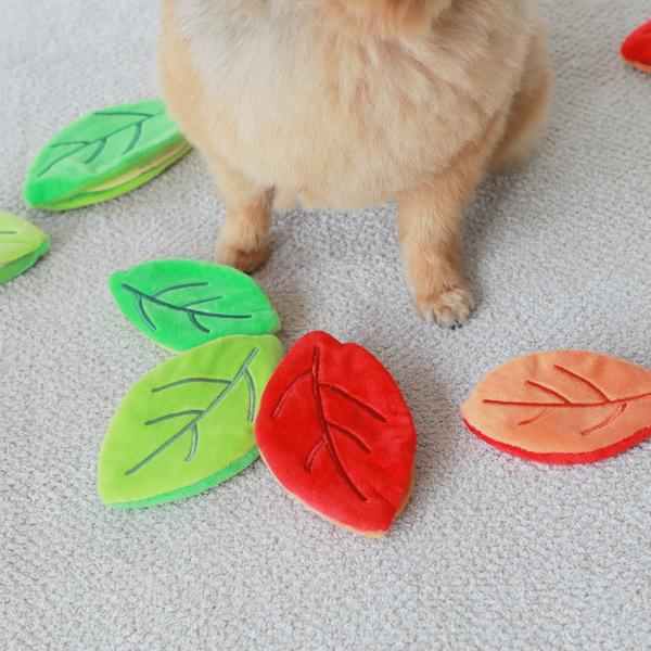푼푼 노즈워크 바스락 나뭇잎 장난감 그린