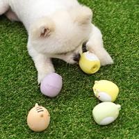 패리스독 강아지 장난감 에그 애니멀 라텍스 토이 (색상랜덤)