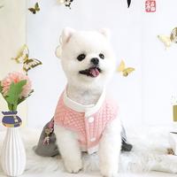 패리스독 강아지 걸즈 한복 핑크