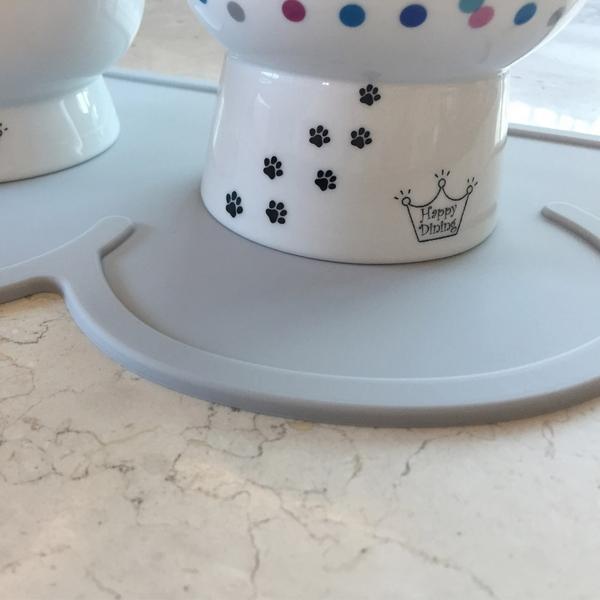 발라당 강아지 고양이 실리콘 식탁 방수 매트