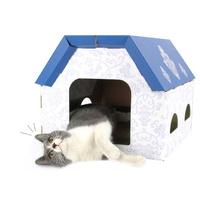 발라당 고양이 종이 박스집 스크래쳐 캣 하우스 숨숨집 대형