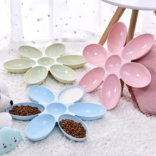 발라당 꽃잎 고양이 식기 다묘 밥그릇 물그릇