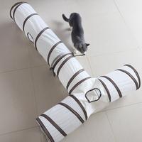 발라당 고양이 행동유발 놀이터 터널