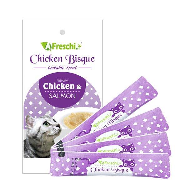 프레스키 짜먹이는 간식 비스크 - 치킨연어 12g 4개입