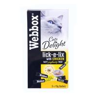 (유통기한21.02)웹박스 고양이 간식 츄르 치킨 요구르트 10g 5개입