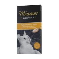 (유통기한21.01.30)미아모아 고양이 간식 스낵 멀티 비타민 크림 15g 6개입