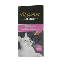 (유통기한21.02.28)미아모아 고양이 간식 스낵 몰트 크림 15g 6개입