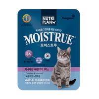 (유통기한21.12.18)뉴트리플랜 고양이 모이스트루 주식 시니어 80g