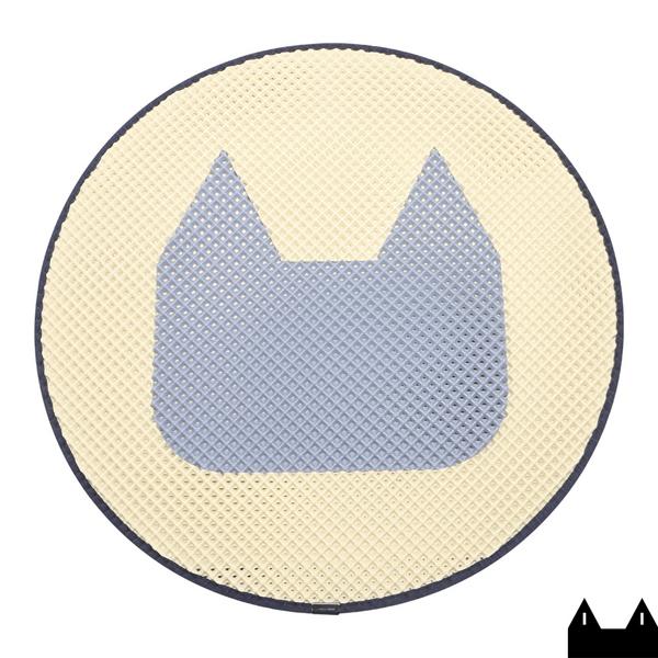 스타캣 라운드 고양이 모래매트 고양이모양 - 연노랑