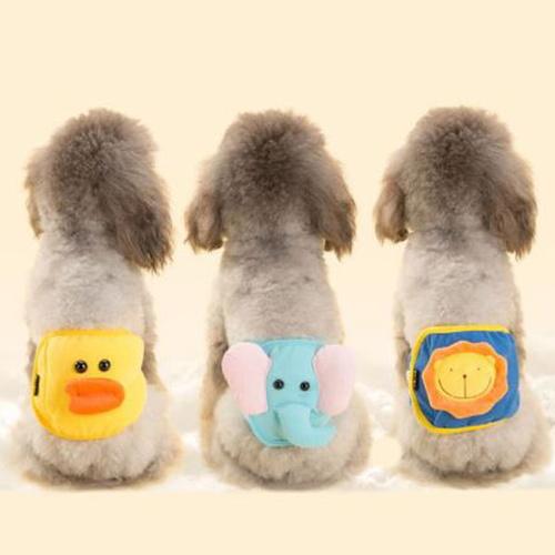 유앤펫 강아지 캐릭터 순면 매너벨트 L