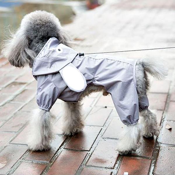 강아지 캐릭터 우비 레인코트