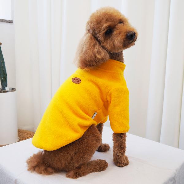 반려동물 옷 강아지 후리스 옐로우(S~5XL)