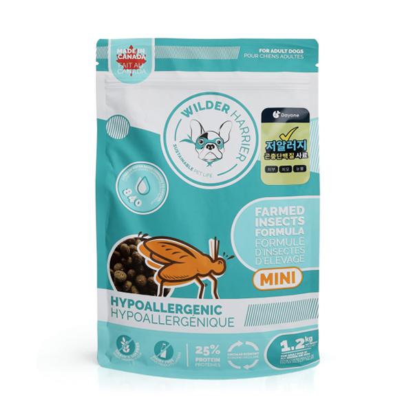 와일더해리어 팜 인섹트 어덜트 하이포알러지 강아지 눈물 사료 1.2kg