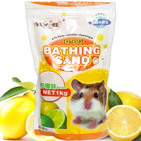 뉴에이지 햄스터 목욕모래 1kg- 레몬향