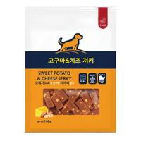 (유통기한21.03.09)파밀 강아지 간식 소프트져키 고구마 치즈 100g