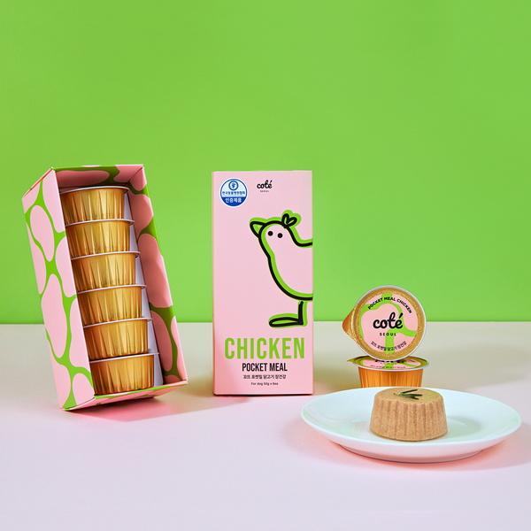 꼬뜨 강아지 간식 포켓밀 닭고기 장건강 4개입