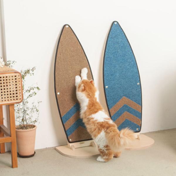 네코이 고양이 카페트 서핑보드 냥보드 수직 스크래쳐