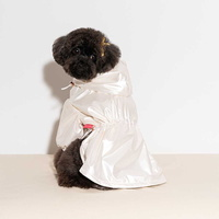 펫펑크 강아지 바람막이 화이트 S~XL