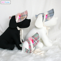 펫펑크 강아지 겨울모자 체크홀릭3종-흔들어도 벗겨지지 않아요
