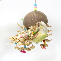 02892 코코넛 구슬 대롱이 새 앵무새 장난감 용품