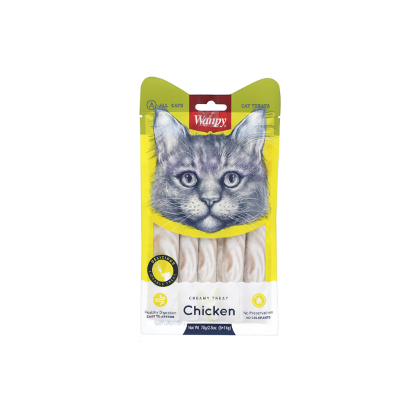 완피 고양이 파우치 크리미 퓨레 닭고기 14g 5개입