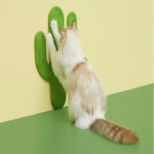 고양이 벽 부착 선인장 스크래쳐