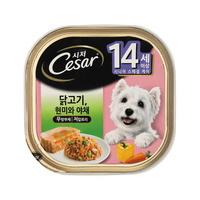 (유통기한21.08.05)시저 강아지 캔 14세이상 닭고기 100g