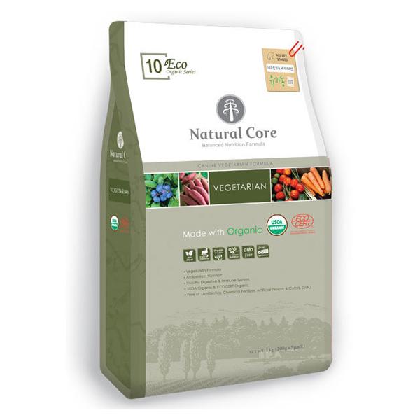 네츄럴코어 유기농 애견사료 에코10 베지테리언 1kg