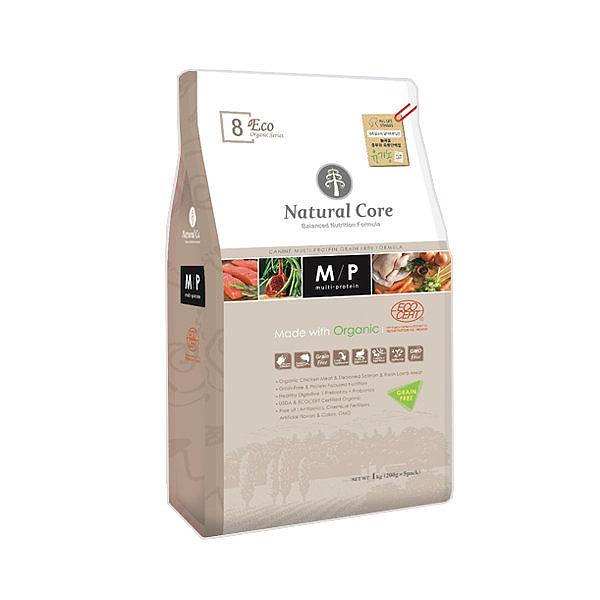 네츄럴코어 유기농 애견사료 에코8 멀티프로테인 노그레인 5.2kg