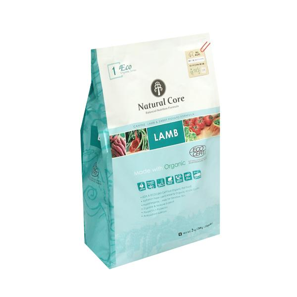 네츄럴코어 유기농 애견사료 에코1 양고기 1kg 작은입자