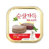 순살가득 강아지 캔 허브소고기순살 100g