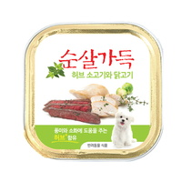 순살가득 강아지캔 허브소고기와 닭고기순살 100g