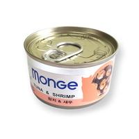 (유통기한21.07.18)바우와우 고양이캔 몽지 참치 새우 95g