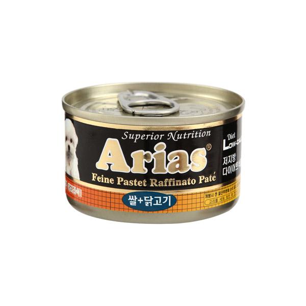 아리아스 쌀닭고기 원형캔  100g