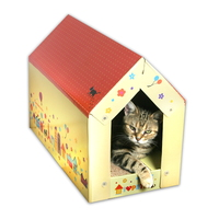 할로 고양이 하우스형 스크래쳐