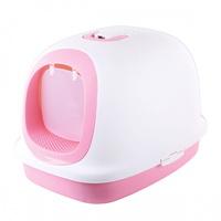 마칼 고양이 후드형 화장실 대형 핑크