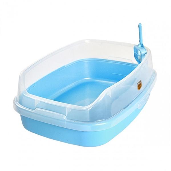 마칼 자이언트 캣 평판 고양이화장실 블루