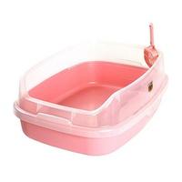 마칼 고양이 평판형 화장실 대형 핑크