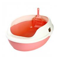 마칼 고양이 평판형 거름망 화장실 핑크
