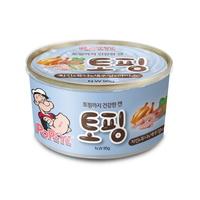 뽀빠이 토핑 치킨 튜나 새우 라이스 강아지 캔 간식 95g