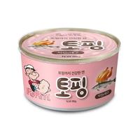 뽀빠이 토핑 치킨 대구 강아지 캔 간식 95g
