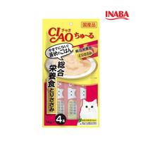 이나바 고양이 챠오츄루 종합영양식 닭가슴살 14g 4개입